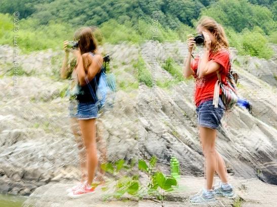 multiple exposure, nikon d800, 85mm, lensbaby, great falls park, va, photography camp