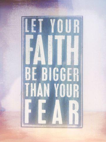 faith, fear, God