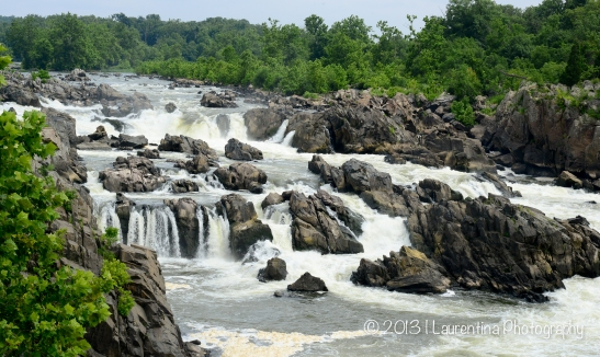 rocks,  trees, waterfalls, cascades, potomac river, panoramic, landscape, stop motion, nature photography