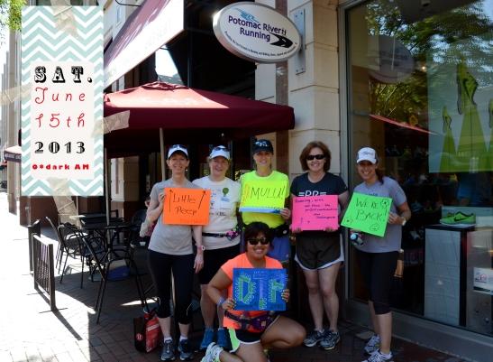 PR training programs, DTP, potomac river running, distance running, funny running photo, life of a runner
