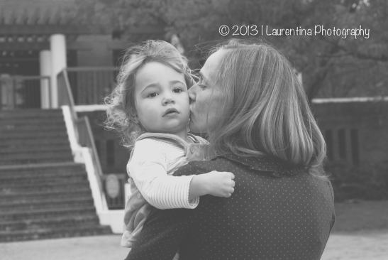 2 year old, fall mini session, northern virginia, old town alexandria, waterfront, marina, pumpkin, portrait, children photography, mommy, daughter, kissing, black and white
